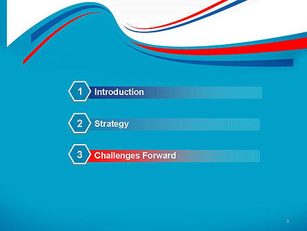 Blue White and Red Curve Shapes PowerPoint Temaplte, Slide 3, 14288, Business — PoweredTemplate.com