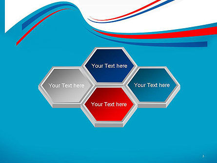 Blue White and Red Curve Shapes PowerPoint Temaplte Slide 5