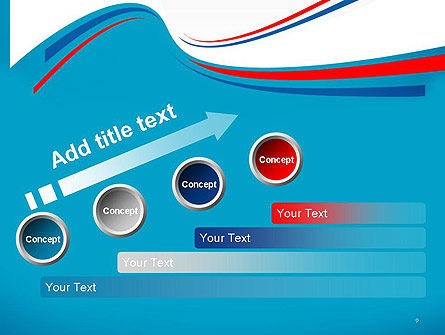 Blue White and Red Curve Shapes PowerPoint Temaplte Slide 9