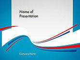 Business: Templat PowerPoint Kurva Biru Putih Dan Merah Membentuk Powerpoint Temaplte #14288