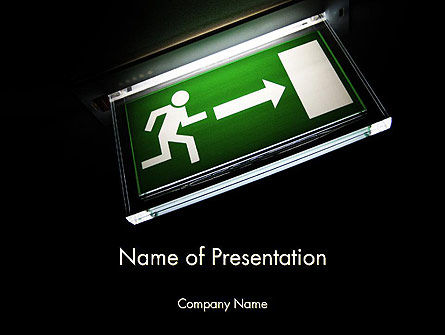 Emergency Lighting PowerPoint Template, 14289, Careers/Industry — PoweredTemplate.com
