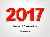 Holiday/Special Occasion: 2017-nummers PowerPoint Template #14290