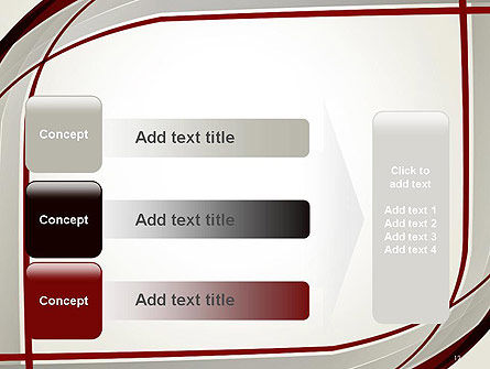 Overlapping Curves PowerPoint Template Slide 12