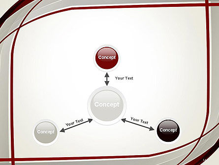 Overlapping Curves PowerPoint Template Slide 14
