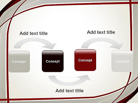 Overlapping Curves PowerPoint Template, Slide 4, 14292, Abstract/Textures — PoweredTemplate.com