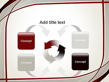 Overlapping Curves PowerPoint Template Slide 6