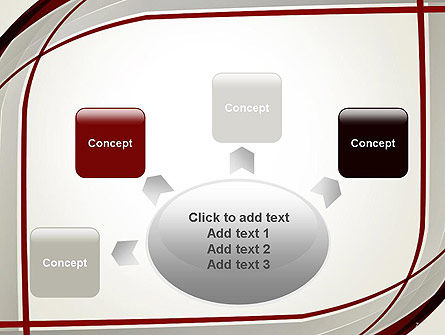 Overlapping Curves PowerPoint Template Slide 7