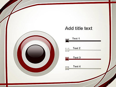 Overlapping Curves PowerPoint Template Slide 9