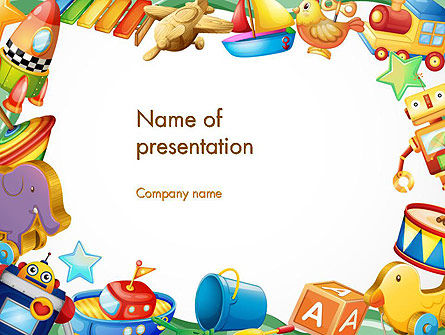 Toys Frame PowerPoint Template, 14293, Education & Training — PoweredTemplate.com
