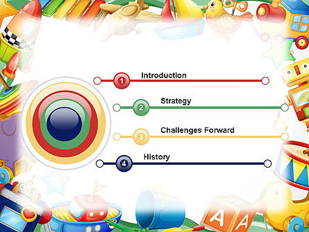 Toys Frame PowerPoint Template, Slide 3, 14293, Education & Training — PoweredTemplate.com