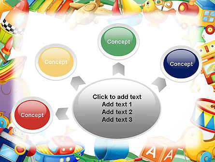 Toys Frame PowerPoint Template Slide 7