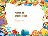 Education & Training: Toys Frame PowerPoint Template #14293