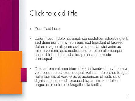 Rectangular Plates Abstract PowerPoint Template, Slide 3, 14294, Abstract/Textures — PoweredTemplate.com