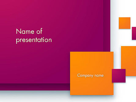 Rectangular Plates Abstract PowerPoint Template