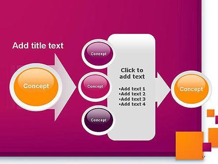 Rectangular Plates Abstract PowerPoint Template Slide 17