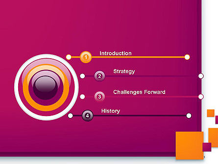 Rectangular Plates Abstract PowerPoint Template Slide 3