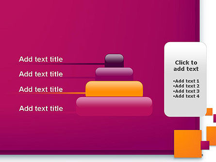 Rectangular Plates Abstract PowerPoint Template Slide 8