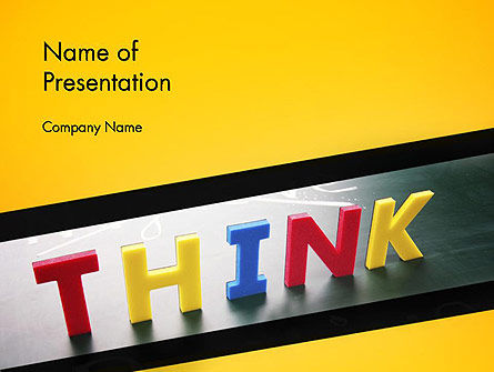 Word Think PowerPoint Template, 14295, Business Concepts — PoweredTemplate.com