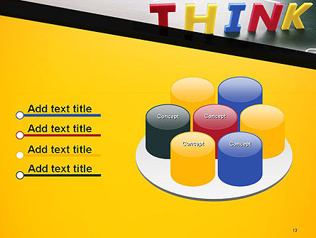 Word Think PowerPoint Template Slide 12