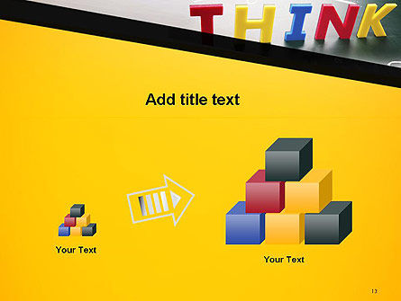 Word Think PowerPoint Template Slide 13