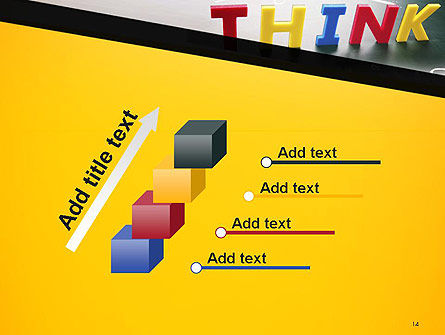 Word Think PowerPoint Template Slide 14
