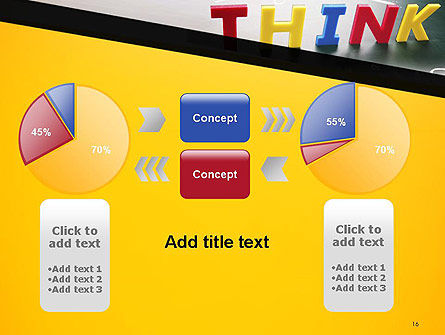 Word Think PowerPoint Template Slide 16