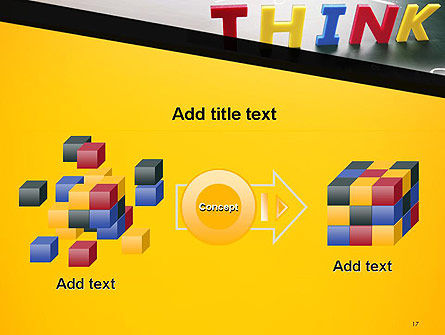 Word Think PowerPoint Template Slide 17
