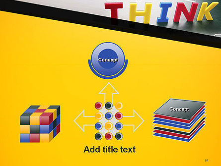 Word Think PowerPoint Template Slide 19