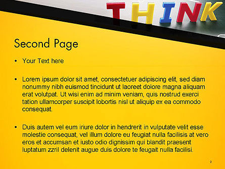 Word Think PowerPoint Template Slide 2