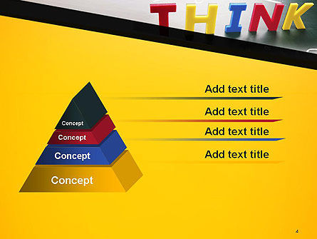 Word Think PowerPoint Template, Slide 4, 14295, Business Concepts — PoweredTemplate.com