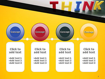Word Think PowerPoint Template Slide 5