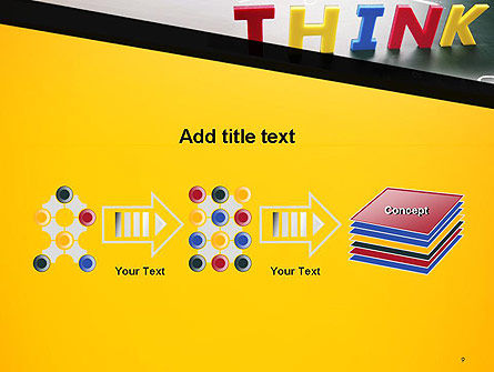 Word Think PowerPoint Template Slide 9
