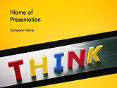 Business Concepts: Word Think PowerPoint Template #14295