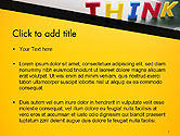 Word Think PowerPoint Template#2