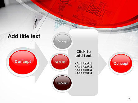 Tablet with Word Cloud PowerPoint Template Slide 17