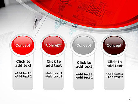 Tablet with Word Cloud PowerPoint Template Slide 5