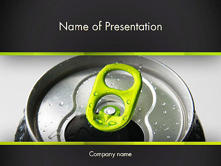 Energy Drink Can PowerPoint Template, 14297, Food & Beverage — PoweredTemplate.com