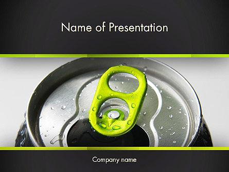 Food & Beverage: エネルギードリンク缶 - PowerPointテンプレート #14297