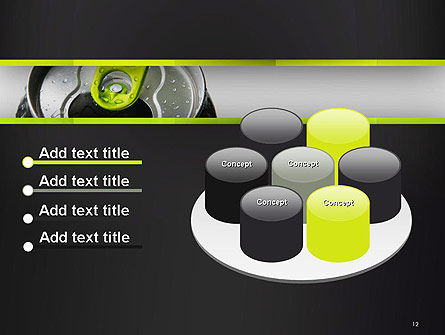 Energy Drink Can PowerPoint Template Slide 12