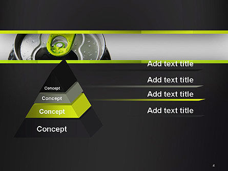 Energy Drink Can PowerPoint Template, Slide 4, 14297, Food & Beverage — PoweredTemplate.com