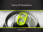 Food & Beverage: Energie Drank Kan PowerPoint Template #14297