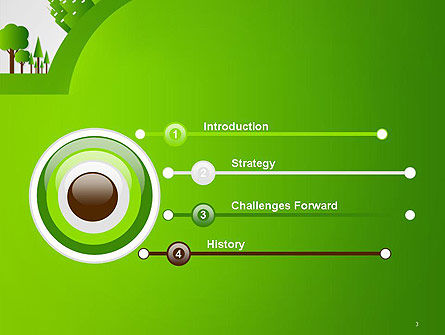 Green City Concept PowerPoint Template Slide 3