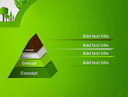 Green City Concept PowerPoint Template, Slide 4, 14299, Nature & Environment — PoweredTemplate.com