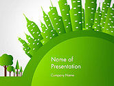 Nature & Environment: Green City Concept PowerPoint Template #14299