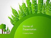 Nature & Environment: Plantilla de PowerPoint - concepto de ciudad verde #14299
