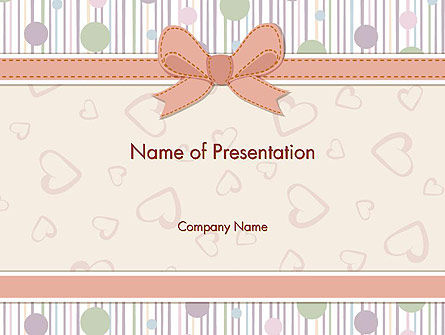 Baby Shower Invitation Powerpoint Template Backgrounds 14302