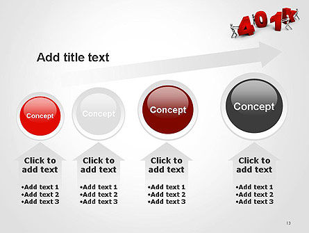 401k PowerPoint Template Slide 13