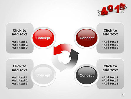 401k PowerPoint Template Slide 9