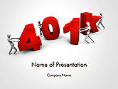 Financial/Accounting: 401k PowerPoint Template #14303