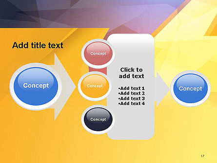 Two Arrows Pointing at Each Other Abstract PowerPoint Template Slide 17